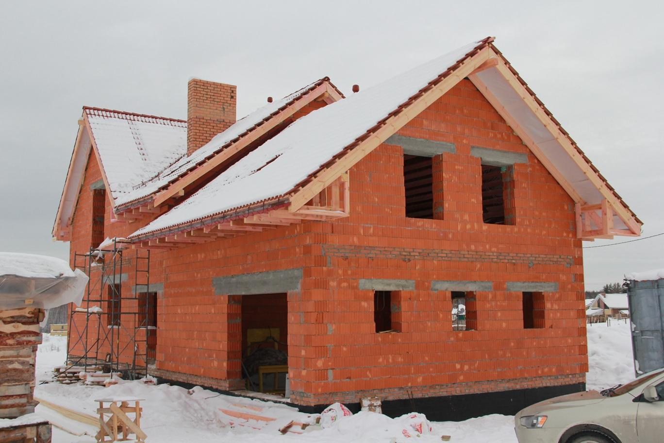 строительство дома из керамических блоков фото одно