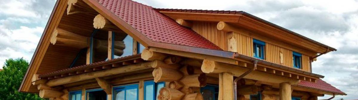 Фотоподборка домов из рубленого бревна большого диаметра