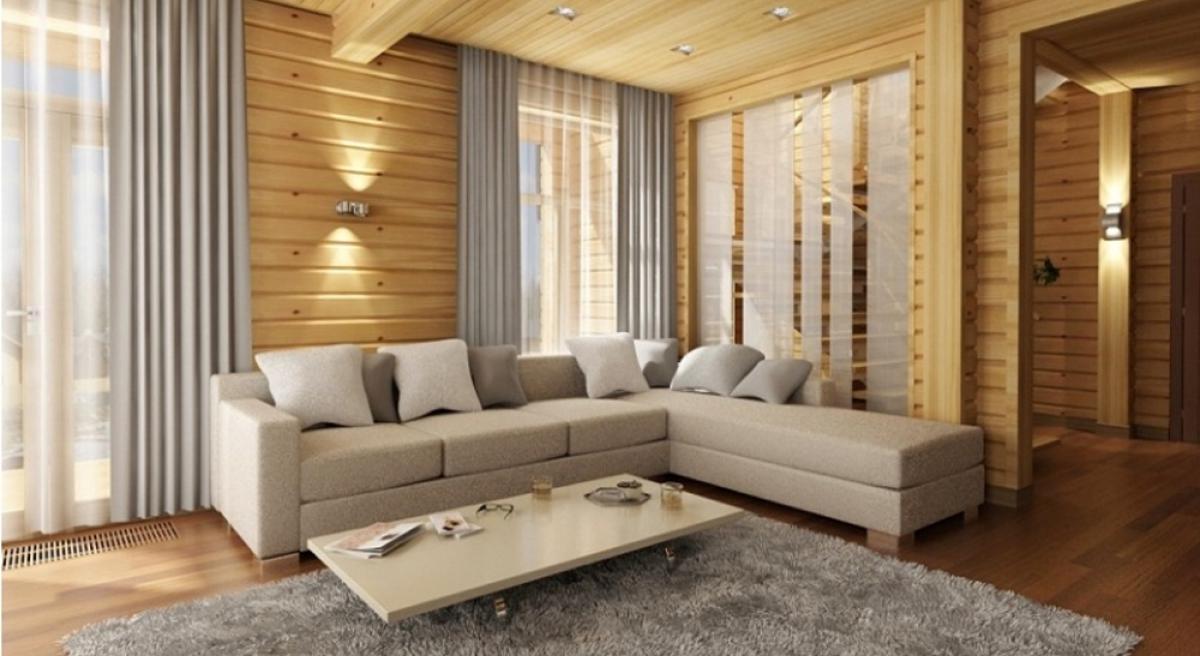 лучшие интерьеры домов из клееного бруса можно