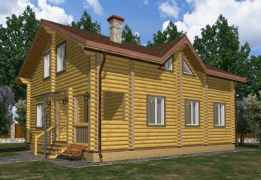 Проект дома из бревна 178 кв.м.