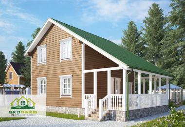 Проект каркасного дома от 90 кв.м.