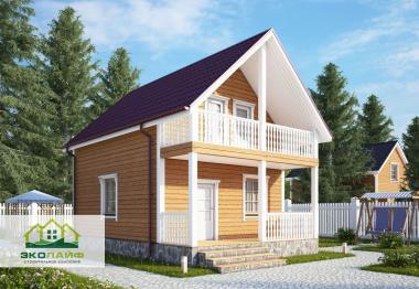 Проект каркасного дома до 80 кв.м.