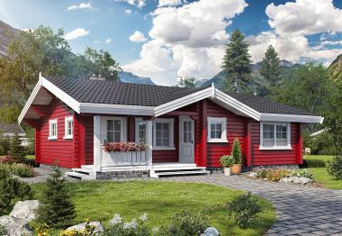 Проект дома из бруса 89 кв.м
