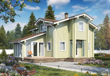 Проект дома из бруса 130 кв.м