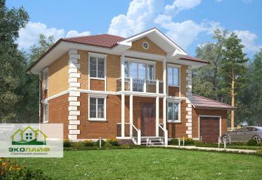 Проект дома из газобетона 168 кв.м.