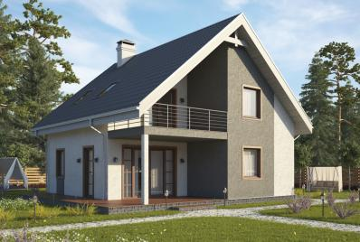 Проект дома из газобетона 130 кв.м.