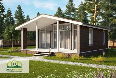 Проект каркасного дома 70 кв.м.