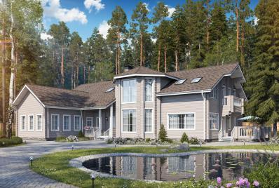 Проект дорогого дома до 500 кв.м.