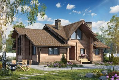 Проект дома из бруса 180 кв.м
