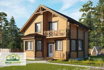 Проект дома из каркаса 133 кв.м.