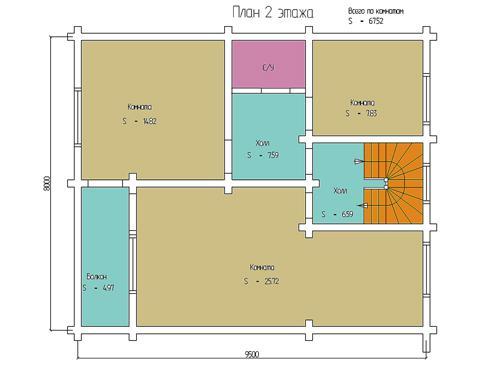 Планировка дома из бревна от 135 кв.м.