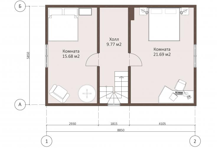 Планировка каркасного дома до 95 кв.м.