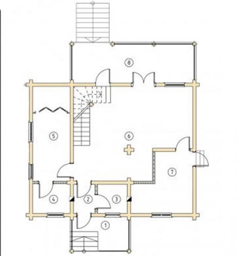 Планировка дома из бруса до 160 кв.м