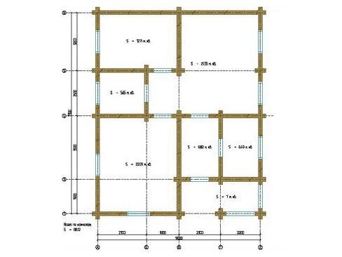 Планировка дома из бревна до 180 кв.м.