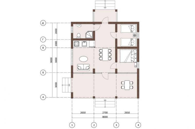 Планировка каркасного дома 70 кв.м.