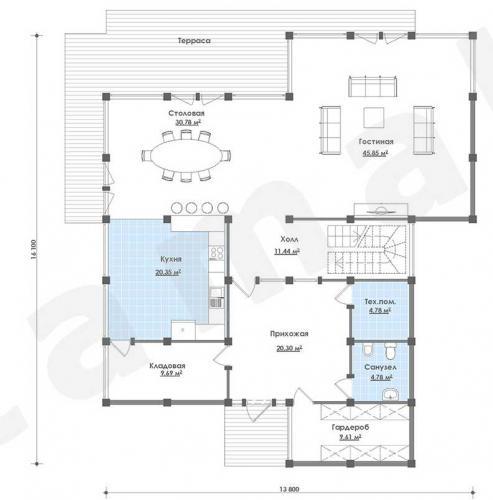 Планировка элитного дома до 280 кв.м.