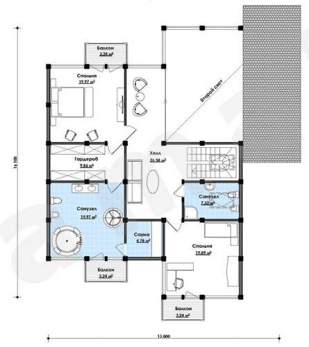 Планировка элитного дома от 275 кв.м.