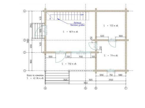 План бани 85 кв.м.