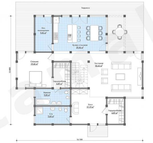 Планировка элитного дома 300 кв.м.