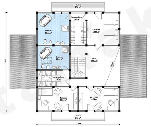 Планировка дорогого дома 300 кв.м.