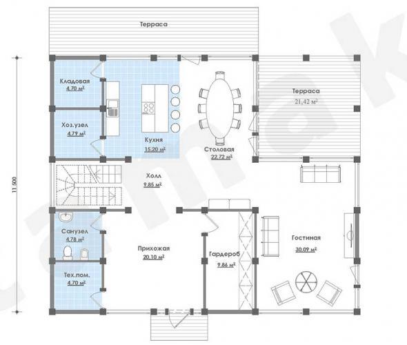 Планировка элитного дома до 315 кв.м.