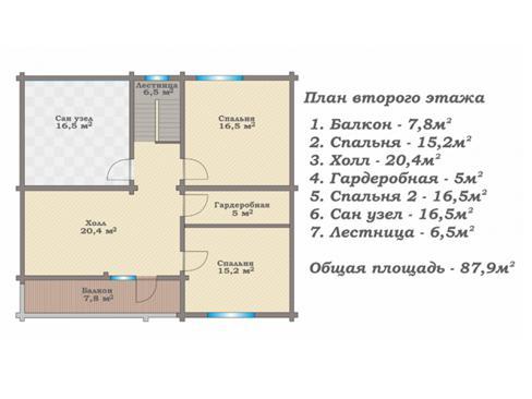 Планировка дома из бревна до 175 кв.м.