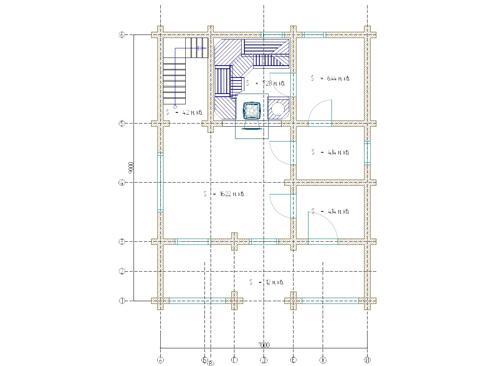 Планировка дома из бревна 111 кв.м.