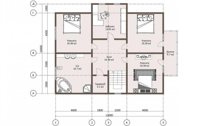 Планировка дома из бруса от 200 кв.м