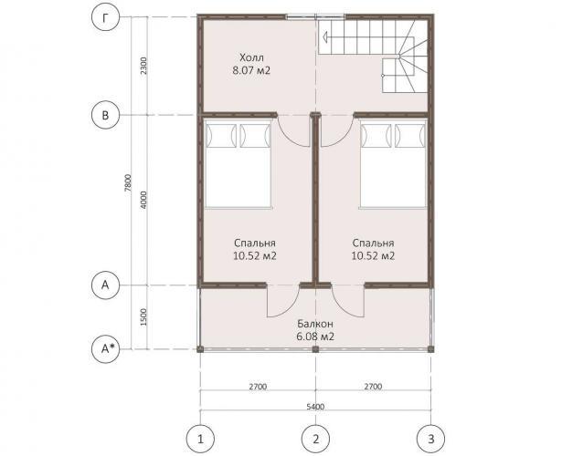 Планировка каркасного дома до 80 кв.м.
