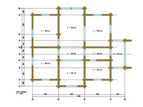 Планировка дома из бревна до 240 кв.м.