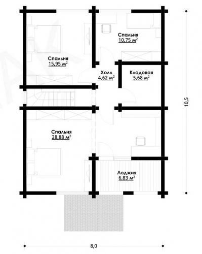 Планировка дома из бруса от 150 кв.м