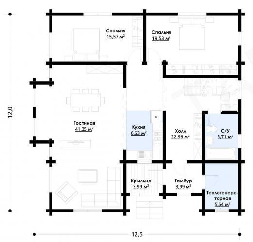 Планировка дома из бруса 180 кв.м