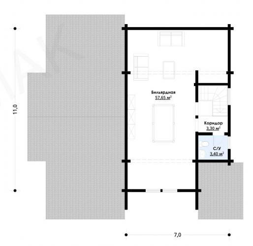 Планировка дома из бруса до 180 кв.м