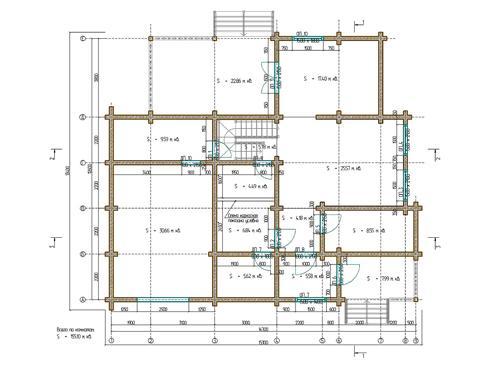 Планировка дома из бруса 236 кв.м