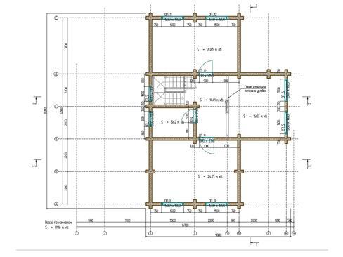 Планировка дома из бруса до 250 кв.м