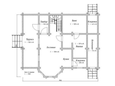 Планировка дома из бруса 145 кв.м