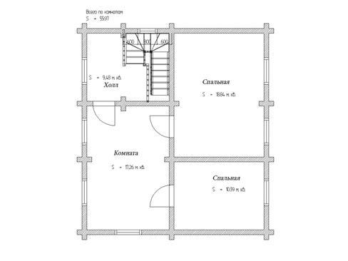 Планировка дома из бруса до 150 кв.м