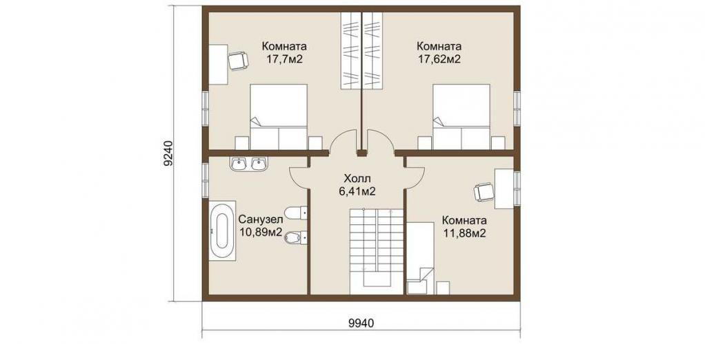 Планировка дома из газобетона до 145 кв.м.