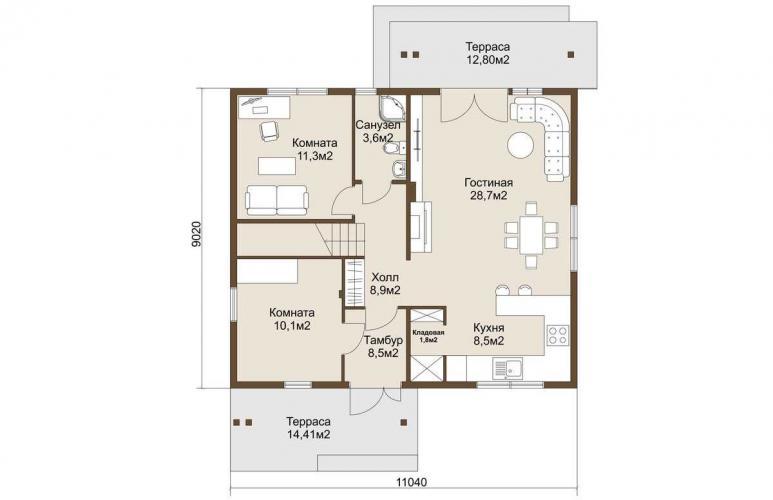 Планировка газобетонного дома до 150 кв.м.