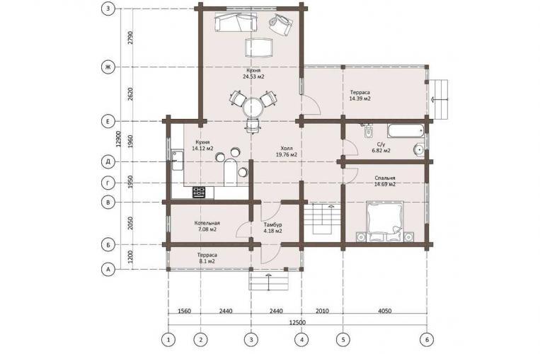 Планировка дома из бруса до 140 кв.м