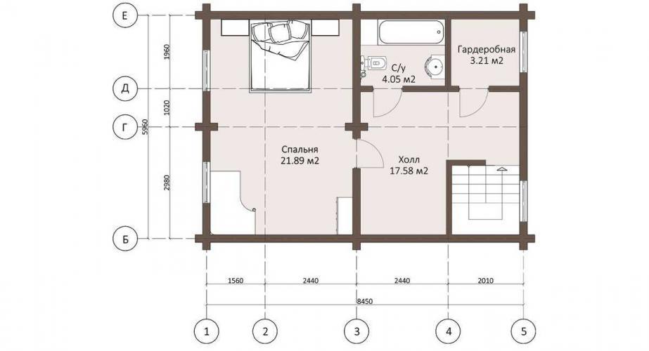 Планировка дома из бруса от 130 кв.м