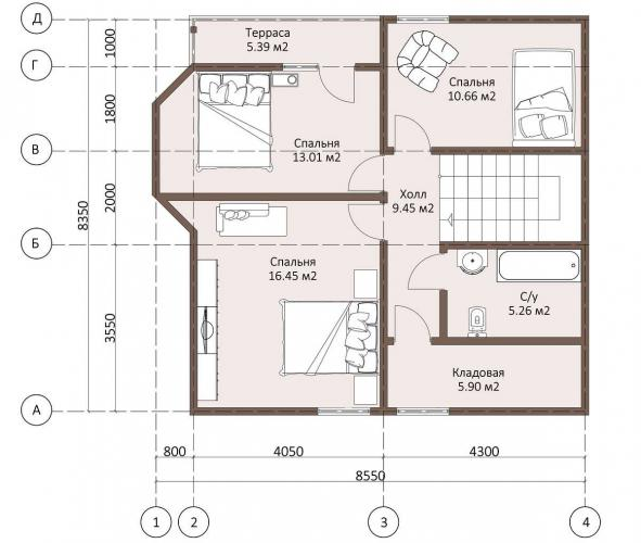 Планировка каркасного дома до 135 кв.м.