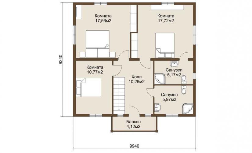 Планировка дома из газобетона 168 кв.м