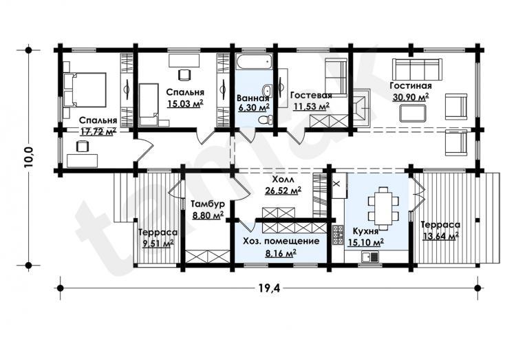Первый этаж