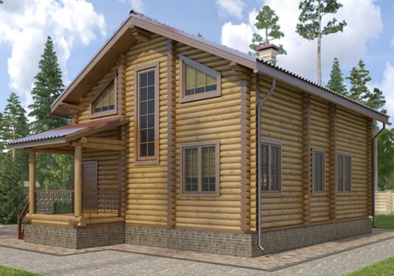 Проекты домов из бревна 139 кв.м.