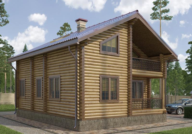 Проекты домов из бревна до 140 кв.м.