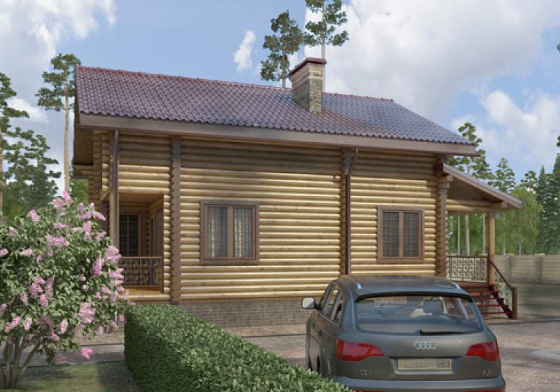 Проекты домов из бревна от 135 кв.м.