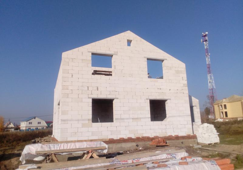 Дом из газобетонных блоков 160 кв. м.