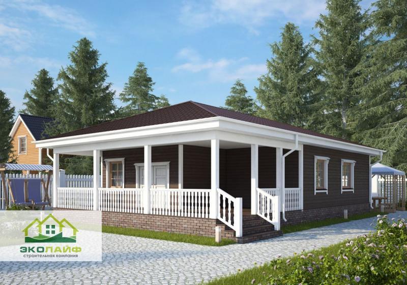 Проект каркасного дома до 100 кв.м.