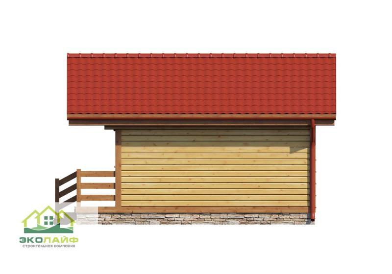 Проект деревянной бани 21 кв.м.